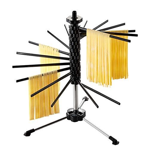 GEFU Pastatrockner DIVERSO, groß, Pastatrockner aus Edelstahl und Kunststoff für selbstgemachte Nudeln, Nudeltrockner, Nudelstange