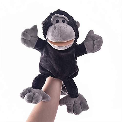 BLTR Suave Regalos de los Animales de Peluche de simulación Títeres for niños del Mono marioneta de Mano de Padres e Hijos Juego Precioso Natural