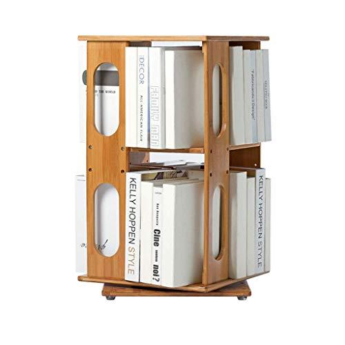 Estantería para Libros Estantería giratoria 360º ajustable de bambú estantería simple simple moderna Biblioteca de varios pisos piso del estante de los niños Estante organizador de libros
