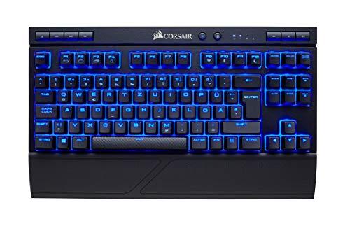 Corsair K63 Kabellose Mechanische Gaming-Tastatur (Cherry MX Red: Leichtgängig und Schnell, blaue LED-Hintergrundbeleuchtung, QUERTZ) schwarz