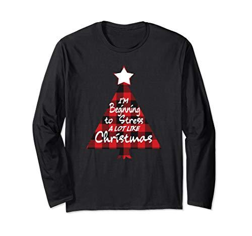 Ich beginne, viel wie Weihnachtsbaum zu betonen Langarmshirt