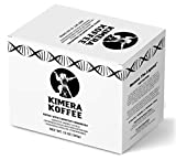 Kimera Koffee Organic Ground Coffee - Original Blend Coffee Pods - Pack of 24 Medium Roast Coffee Cups for Most Coffee Machines - Vitamin Infused Coffee As Cognition and Energy Booster