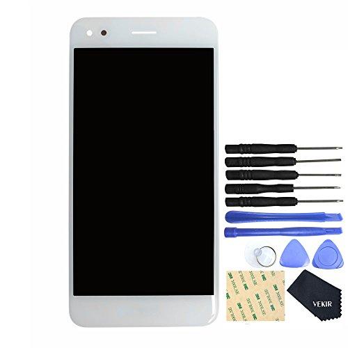 VEKIR Recambio Pantalla LCD Touch Screen Digitizer LCD Completo con Pegatina para Huawei P9Lite Mini Y6Pro (2017) sla-l02sla-l22sla-l03(White)