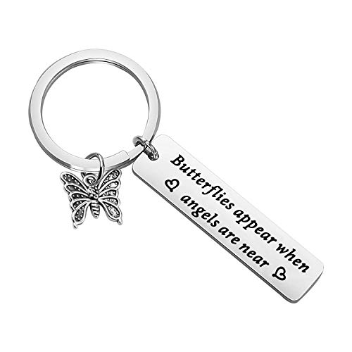 MAOFAED Butterfly Gift Butterfly Memorial Gift Butterfly Lover Gift Butterflies Appear When Angels are Near