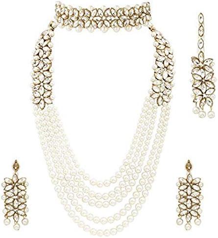 Vihan Latest Designer Kundan Direct sale of manufacturer Long Max 47% OFF Earring Indian Jewelr Necklace