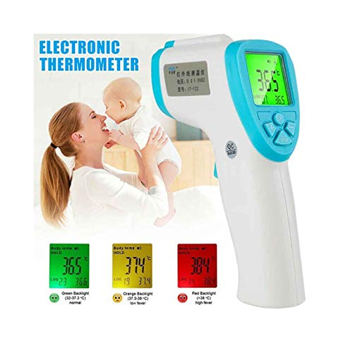 Smart Forehead Thermometer Digital Infrared Body Temporal Thermometer, Best Health Care Basal Thermometers for Babies, Children, Adults, Indoor & Outdoor Use