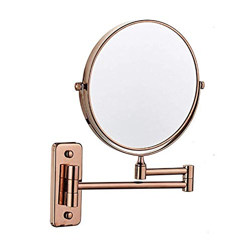 HGXC Wall Mounted Mirror, Extending Folding Bathroom Shaving Cosmetic Make Up Mirror- 3X/1X Magnification