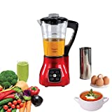 Livoo DOP140R Blender Chauffant Multifonction | 6 Programmes prédéfinis Smoothies, Soupes, Sauces, Cuisson Vapeur etc |Couteau 4 Lames, 15 000 U/min | Capacité 1,7L