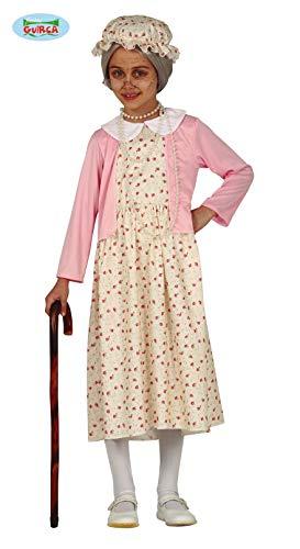 Guirca Costume Nonna anziana Cappuccetto Rosso Bambina 8372_ 3-4 Anni