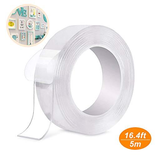 1M Doppelseitiges Klebeband Tape Waschbares Klebeband ransparent Nano Entfernbares Wiederverwendbares Klebestreifen Rutschfest Multifunktionales f/ür Teppich Fotorahmen K/üche