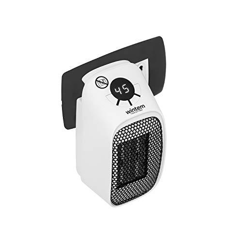 Stufetta Elettrica Likely 400 Watt Mini Termoventilatore a presa con Timer e Display