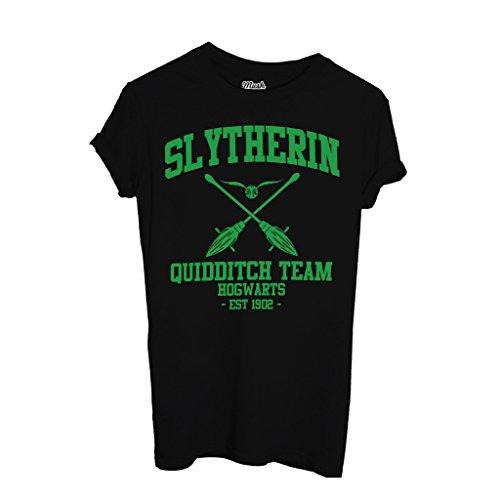 MUSH T-Shirt Slytherin Harry Potter - Film by Dress Your Style - Uomo-XL-Nera