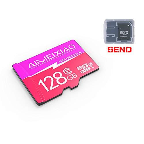 Shanmencunboss Tarjeta de 128GB, 256GB, 512GB TF (microSD), Tarjeta de Memoria, Compatible con Todos los Dispositivos electrónicos, tecnología UHS-I, C10, Full HD, Alta Velocidad, hasta 108M / S