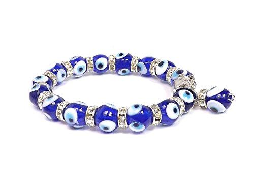 Remi Bijou Wunderschönes Elegantes Armband Armreif- Blau Weiss Nazar Boncuk blaues Auge Kugel
