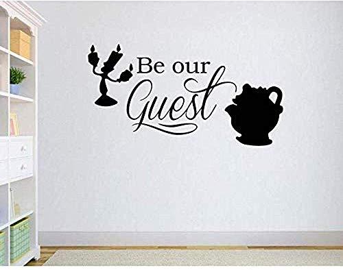 Cartoon Is Our Guest Lámpara De Pared Beauty And Beast Vinilos Decorativos Habitación Para Niños Sala De Juegos Baby Gift Vinyl Diy57X108Cm
