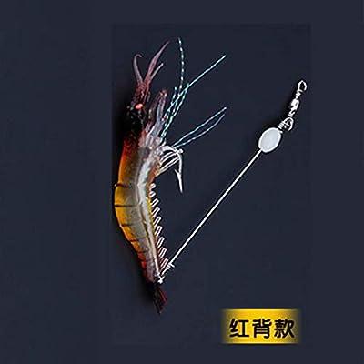 High Simulation Road Asia Soft Bait with Hook Fake Shrimp Fake Bait Bionic Official Hanging Shrimp Lu Ya Bait