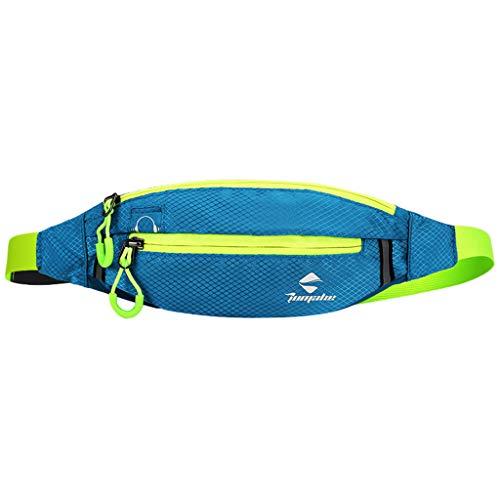 Bauchtasche Gürteltasche für Unisex/Skxinn Wasserdichte Bauchtasche Damen und Herren,Outdoor Hüfttasche Sport Running Joggen Laufen Laufgürtel Ausverkauf(Himmelblau)