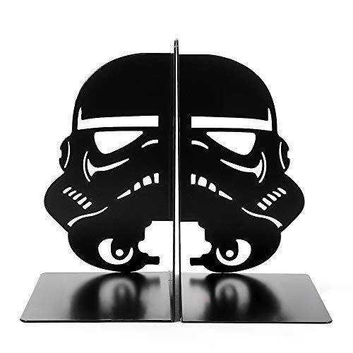 Imperial Stormtrooper Bookends Black Mask Decorative Metal Bookend Stormtrooper Book Stopper The Force Bookshelf