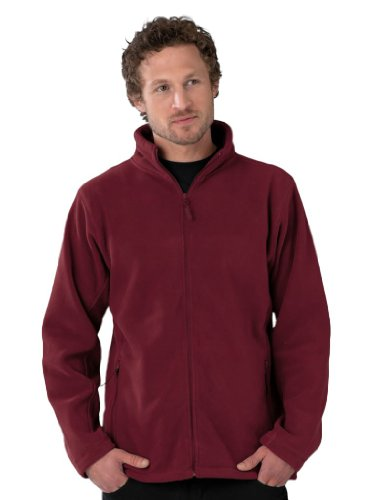 Russell Collection Fleece-Jacke R-870M-0, Farbe:Burgundy;Größe:M M,Burgundy
