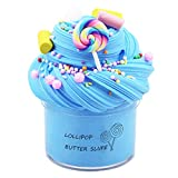 Partyfirst Blue Butter Birthday Cotton Candy Slime, Non-Sticky Floam Slime Stress Relief Toy Scented DIY Sludge Toy for Girl and Boy(7oz) 200ML