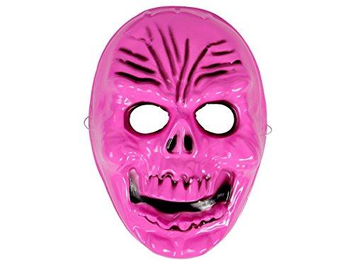 Alsino Masque Horreur en Plastique pour Adultes et Ados Homme Femme Fille garçon Accessoire complétera Parfaitement Votre déguisement soirée Halloween ou Autre événement déguisé, 973018 Pink