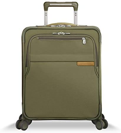 Briggs Riley Baseline Softside CX Expandable Wide Body Carry On Spinner Luggage Olive 21 Inch product image