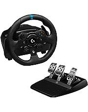 Logitech G923 Racing Wheel And Pedals For Xbox One And Pc, Prawdziwe Ściganie Pochodzi Z Wnętrza, Xbox Series X|S/Xbox One/Pc - Czarny,941-000158