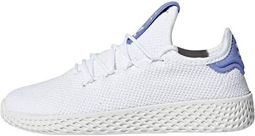 Adidas PW Tennis Hu C, Zapatillas de Deporte Unisex niño, Blanco (Ftwbla/Ftwbla/Blatiz 000), 33 EU