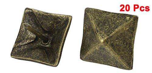 uxcellおしゃれな押しピン親指鋲押しピン正方形の形19mmブロンズトーン20枚入り