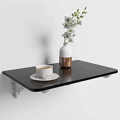 2pcs Triangle métallique pliante Support de tablette, support mural - Heavy Duty Fold Table for Encastrée éviers, four micro-ondes et d'autres meubles, montage mural flottant pliant Bureau d'ordinateu