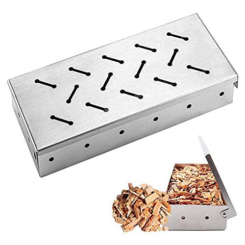 22x9.5x4.2CM Räucherbox, Anti-Rost Hohe...