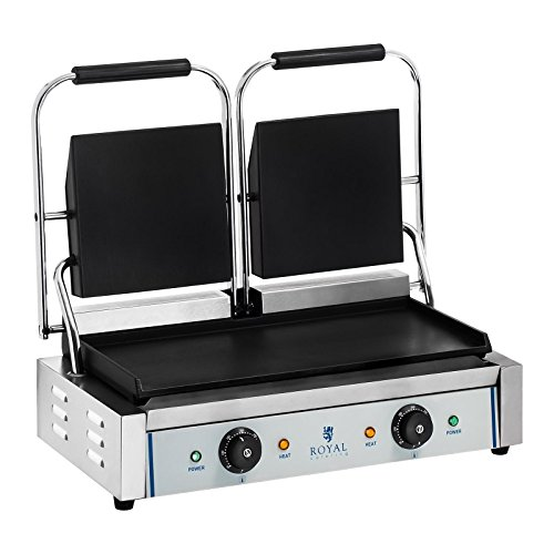 Royal Catering RCKG- 3600-F Dubbele contactgrill - glad - 2 x 1800 W
