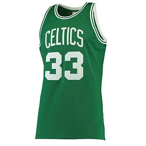 Hhwei Canotte Jersey Basket Jersey Maglia Canotta Swingman Abbigliamento Sportivo Larry Bird Boston Celtics Mitchell Ness #33,XXL