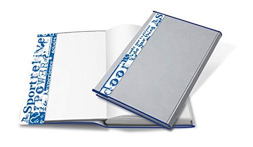 HERMA 28265 Buchumschlag HERMÄX Design Sport 26,5 x 54 cm, Buchhülle aus robuster Folie mit Beschriftungsetikett, Buchschoner für Schulbücher, transparent / durchsichtig