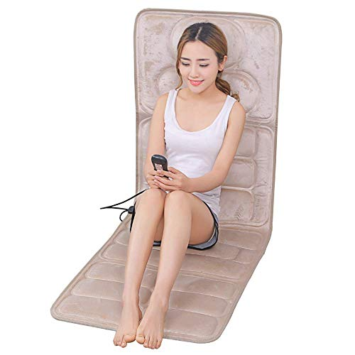 Pieghevole Massage Mat con 9 motori vibranti, Massager pieno corpo a cuscino for alleviare il collo della spalla lombare Hip Leg Pain, Studio automobile usi, 9 Modalità e 9 Intensity, seduti e sdraiat
