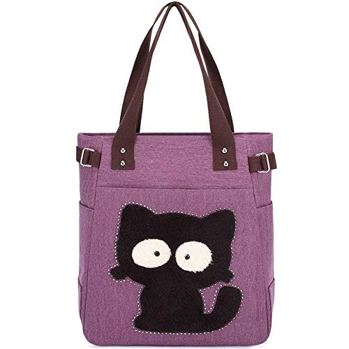 KAUKKO Donne Canvas Handbag Shopping bag