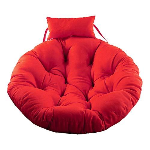 Cojín de ratán para colgar huevos de gamuza, para colgar en la silla, cojín para silla colgante, suave para la piel, cojín de columpio, asiento grueso para colgar, respaldo con almohada