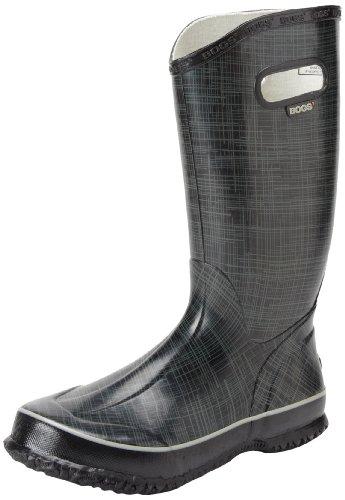 Hot Sale Bogs Women's Rainboots Linen Boot,Black,7 M US