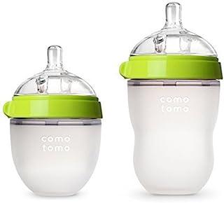 Comotomo Natural Feel Bundle - 2 Items (Green, 5oz + 8oz)