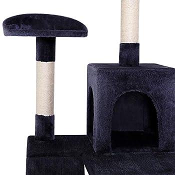 dibea Arbre à chat avec griffoir / centre d'activités - 60 x 60 x 133 cm - Gris