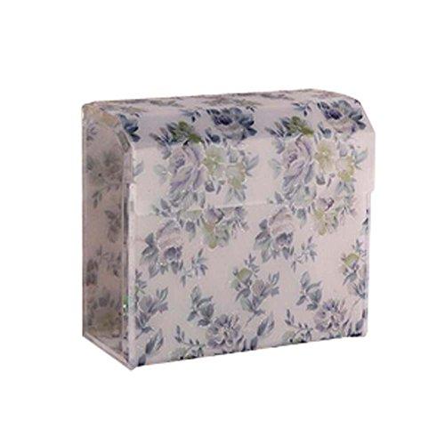 Bleu Petit Fleurs WC Porte de salle de bains Porte-mouchoirs pour Tissue
