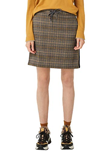 s.Oliver Damen Rock mit Glencheck-Muster yellow check 44