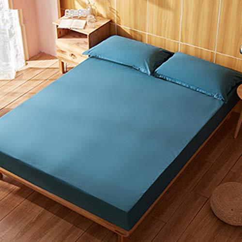haiba Anti alergia Chinches Cama Impermeable Colchón Total Encasement Protector Cubre,Azul 100x200cm