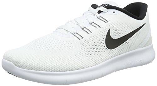 Nike Herren Free RN Laufschuhe, Weiß (Weiß/Schwarz), 38.5 EU