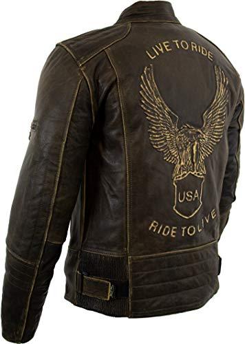 Motorrad Lederjacke mit einer Adler Prägung - 5