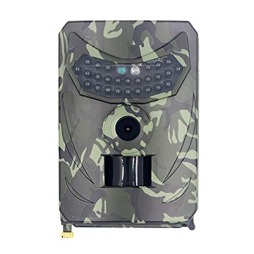 Teeyyui Trail Cámara, IP56 cámara de juego impermeable, 12MP 1080P HD visión nocturna infrarroja cámara de grabación de monitoreo de animales vivos