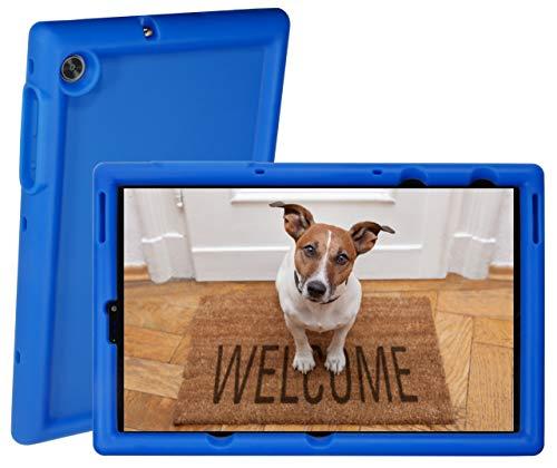 BobjGear Rugged Tablet Case for Lenovo Tab M10 FHD Plus 10.3 inch (TB-X606F, FA) Premium Washable Silicone, Kid Friendly, Shockproof (Batfish Blue)
