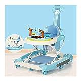CJW-LC 5 Velocidades De Altura Ajustable Andadores De Bebé, Andador De Bebé Plegable Multifunción Antivuelco, Caminante para 6 A 18 Meses Niños Y Niñas,H