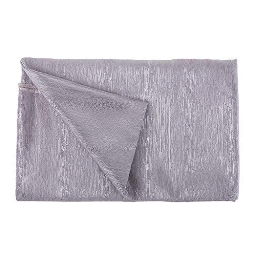 IPOTCH 1 Yard 137cm breed metallic polyester stof bruidsjurk tas gordijn materiaal DIY patchwork ambacht