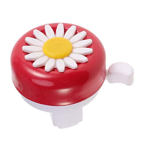 LIOOBO Fahrrad Glocke Blumen Fahrradklingel Klingel für MTB BMX Rennfahrrad Kinder Fahrrad Zubehör (rot und weiß)